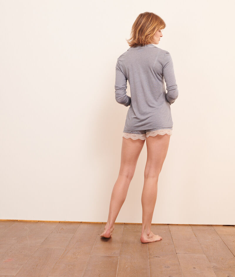 Пижамная рубашка с карманом;${refinementColor}
