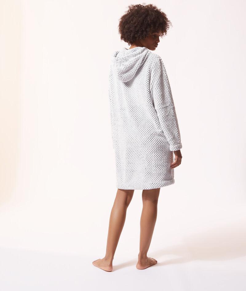 Плюшевое платье-толстовка с капюшоном;${refinementColor}