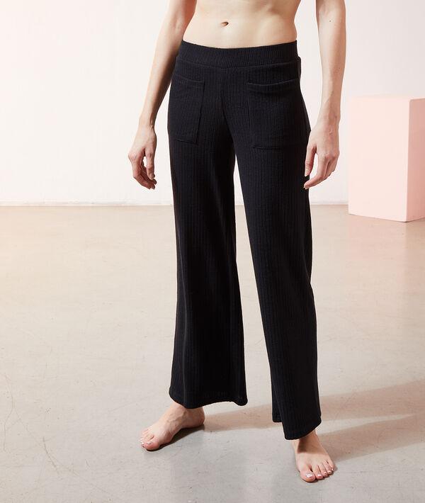 Пижамные брюки в рубчик - DAMON - Чёрный - L
