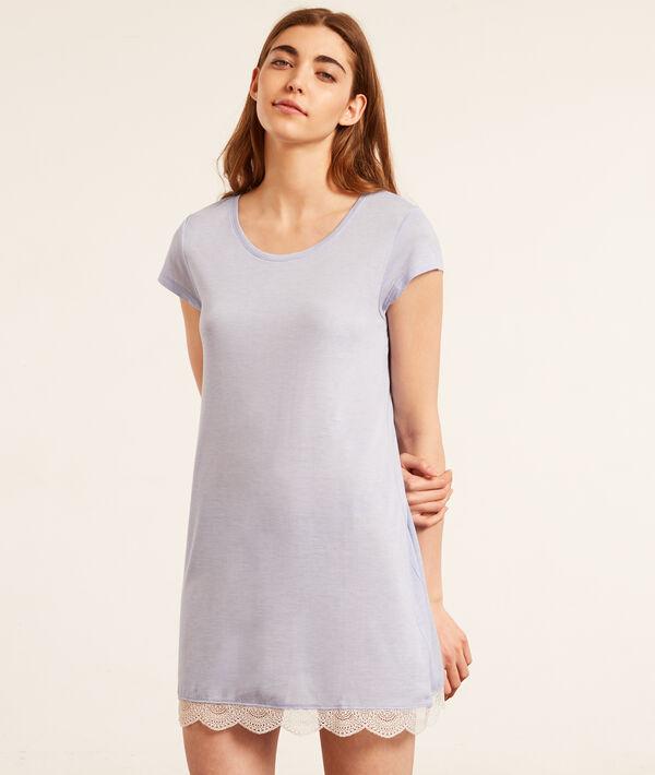 Ночная рубашка с кружевом по нижнему краю;${refinementColor}