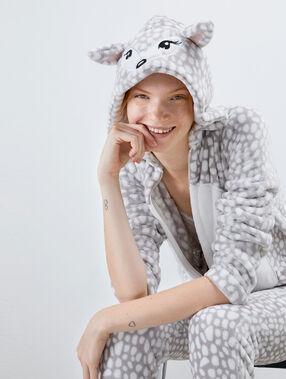 Пижама-комбинезон «лань» серый.