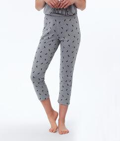 Короткие штаны с принтом в виде единорогов серый.