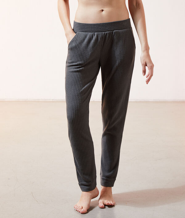 Пижамные брюки в рубчик - DARRYL - Темно-зеленый - S