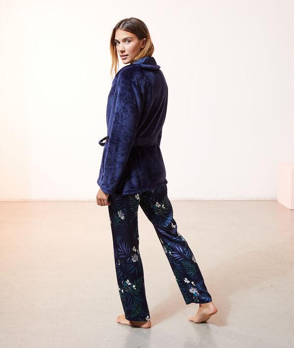 Атласный пижамный комплект с принтом;${refinementColor}