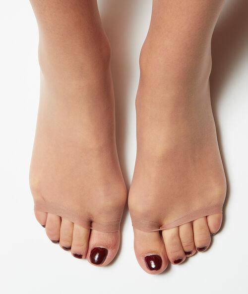 Колготки из вуали с эффектом голых ног, пальцы стопы открыты