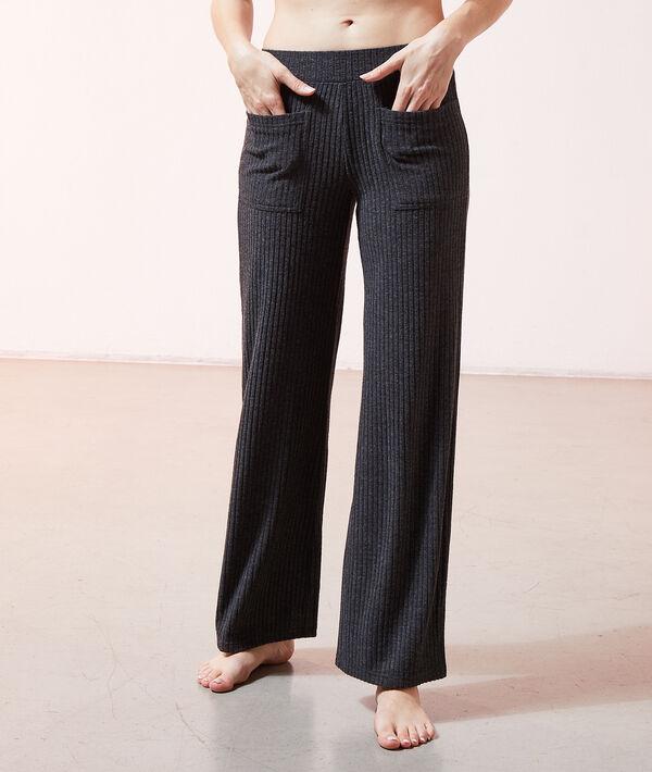 Пижамные брюки в рубчик - DAMON - Серый - XS
