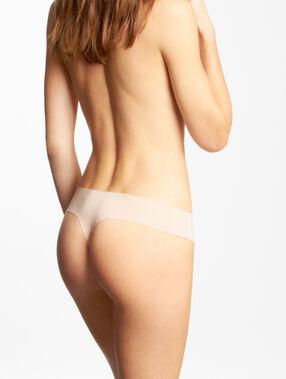 Невидимые под одеждой стринги микроволокно телесный.