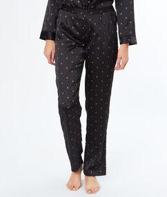 """Пижамные брюки с принтом """"пчёлки"""" чёрный."""