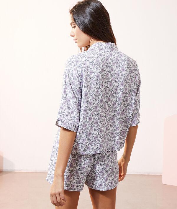 Рубашка с цветочным принтом;${refinementColor}