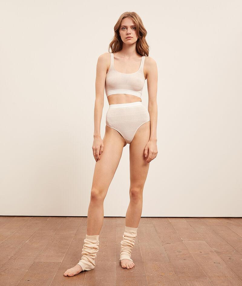 Culotte taille haute en maille extensible;${refinementColor}