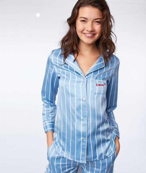 Атласная пижамная рубашка с полосками 0d59703211437