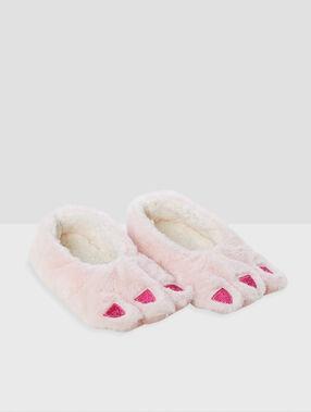 Мягкие оригинальные тапочки «фантазия» розовый.