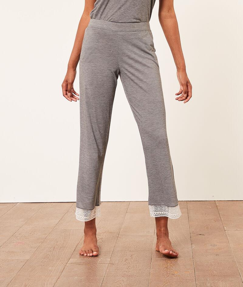 Укороченные пижамные брюки;${refinementColor}