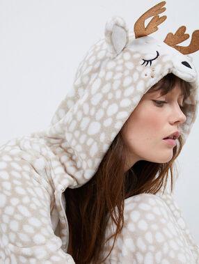 Пижама-комбинезон «жираф» бежевый.