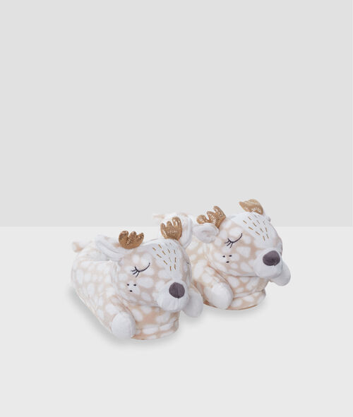 Тапочки с объемными оленями