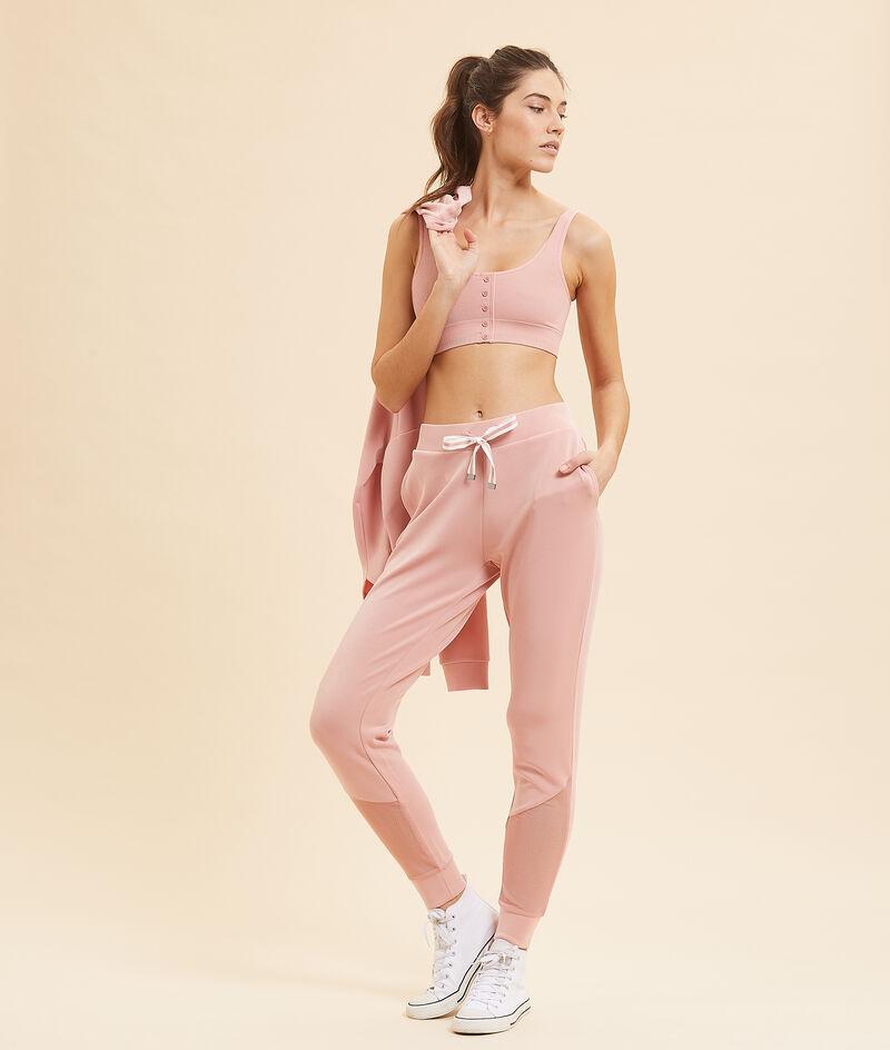 Спортивные брюки с сетчатыми вставками;${refinementColor}