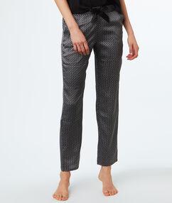 Атласные брюки серый.