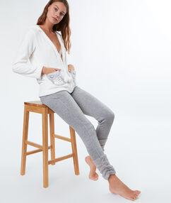Штаны из мольтона с плюшевыми отворотами серый.