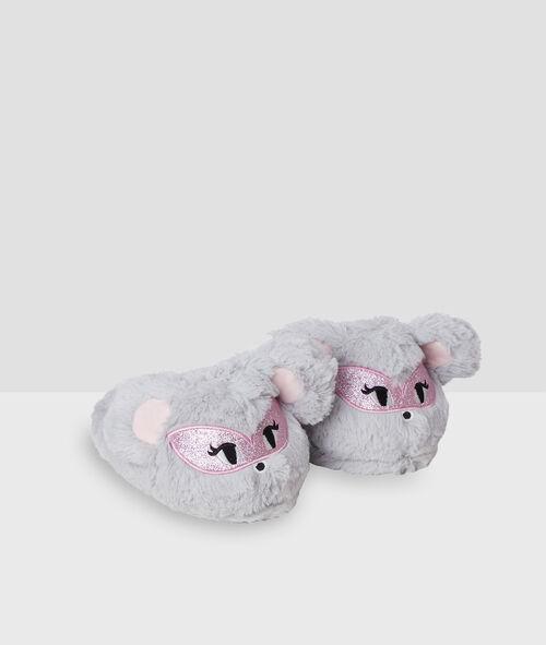 Домашние тапочки - объемные мышки