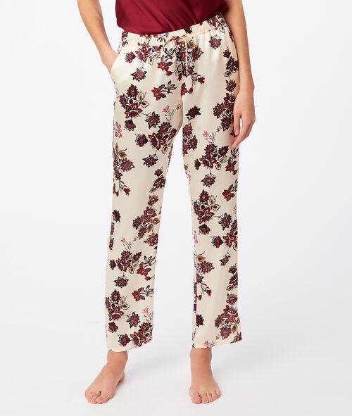 Широкие штаны с цветочным принтом