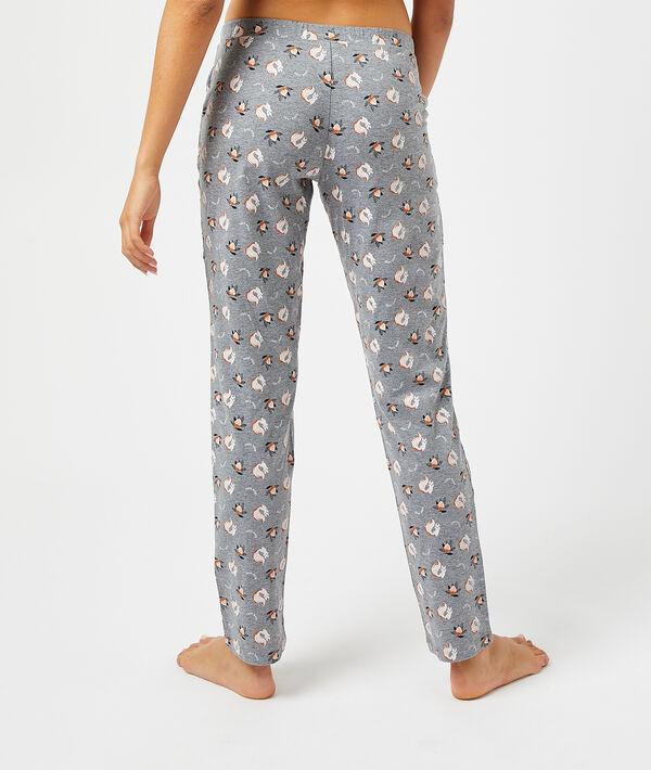 Пижамные брюки с принтом белочек и орехов;${refinementColor}