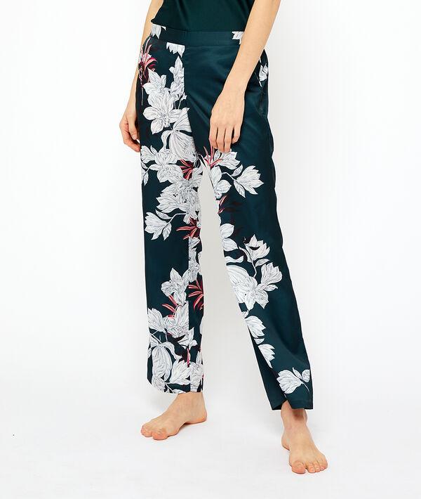 Атласные пижамные штаны - GOYAVE - Зелёный - XL фото