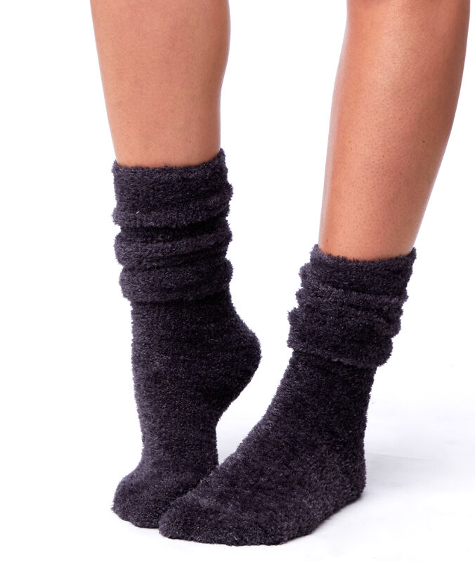 Носки из металлизированного волокна антрацит.
