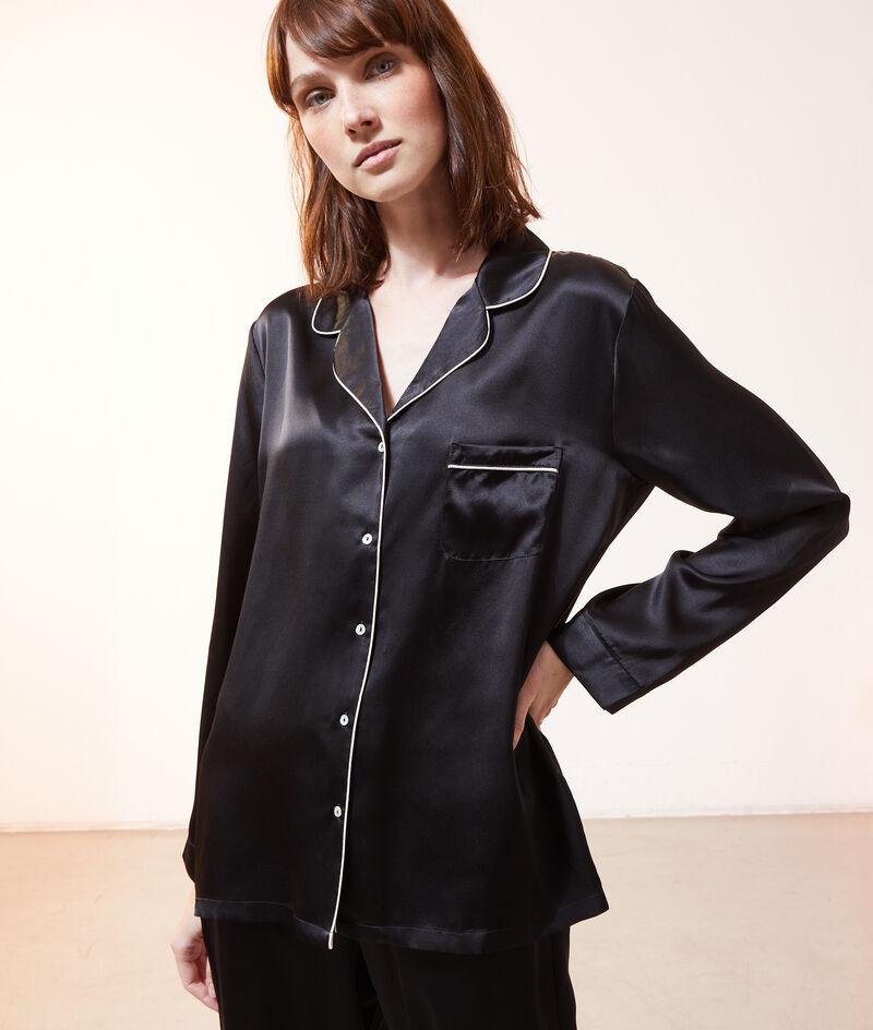 Шелковая пижамная рубашка;${refinementColor}