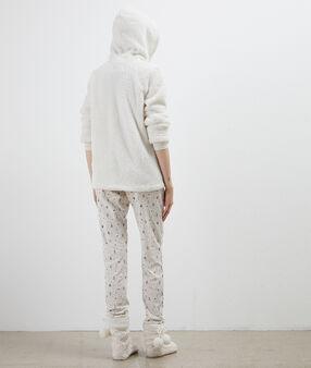 Пижама из 3 предметов с принтом снеговика бежевый.