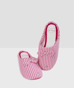 Тапочки в полоску розовый.