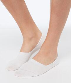 2 пары невидимых коротких носков экрю.