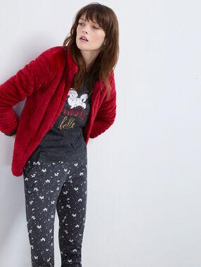 Пижама из 3 предметов красный.