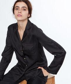 Пижамная рубашка в мужском стиле чёрный.