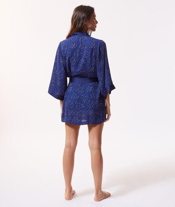 Атласный халат-кимоно с принтом;${refinementColor}