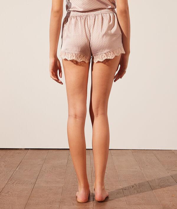 Атласные шорты с кружевной окантовкой;${refinementColor}