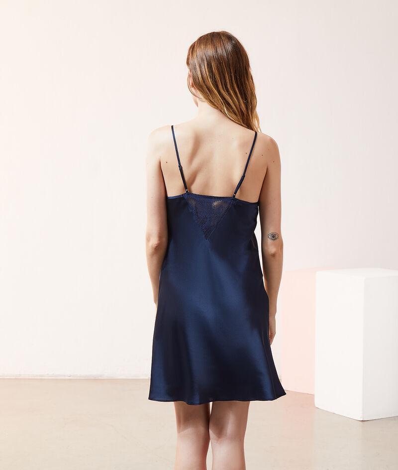 Атласное платье-сорочка;${refinementColor}