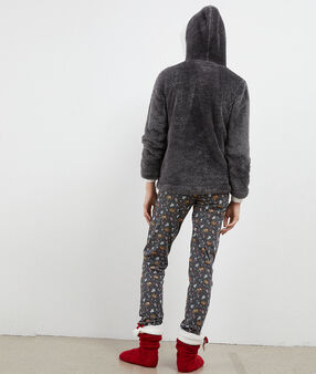 Pyjama trois pièces éléphant anthracite.