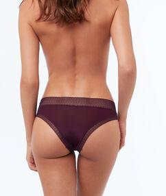 Hipster bi-matière violet.