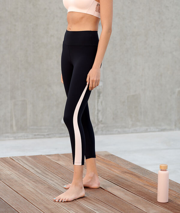 Леггинсы для йоги с полосами по бокам