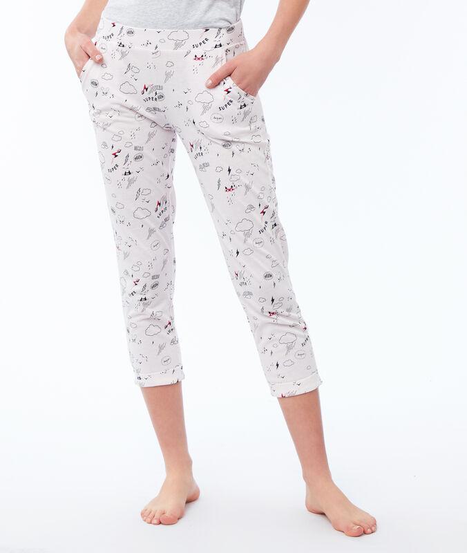 Короткие штаны с принтом бледно-розовый.