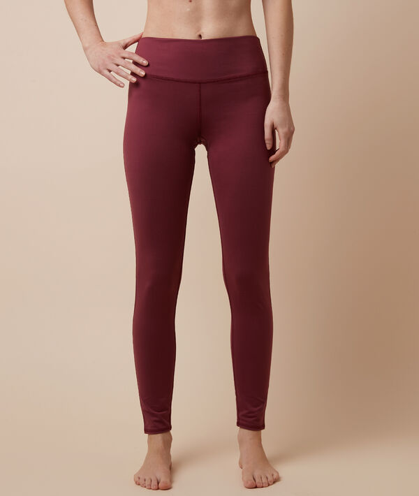 Legging de yoga long - LUCIANA - BORDEAUX GRENAT - S