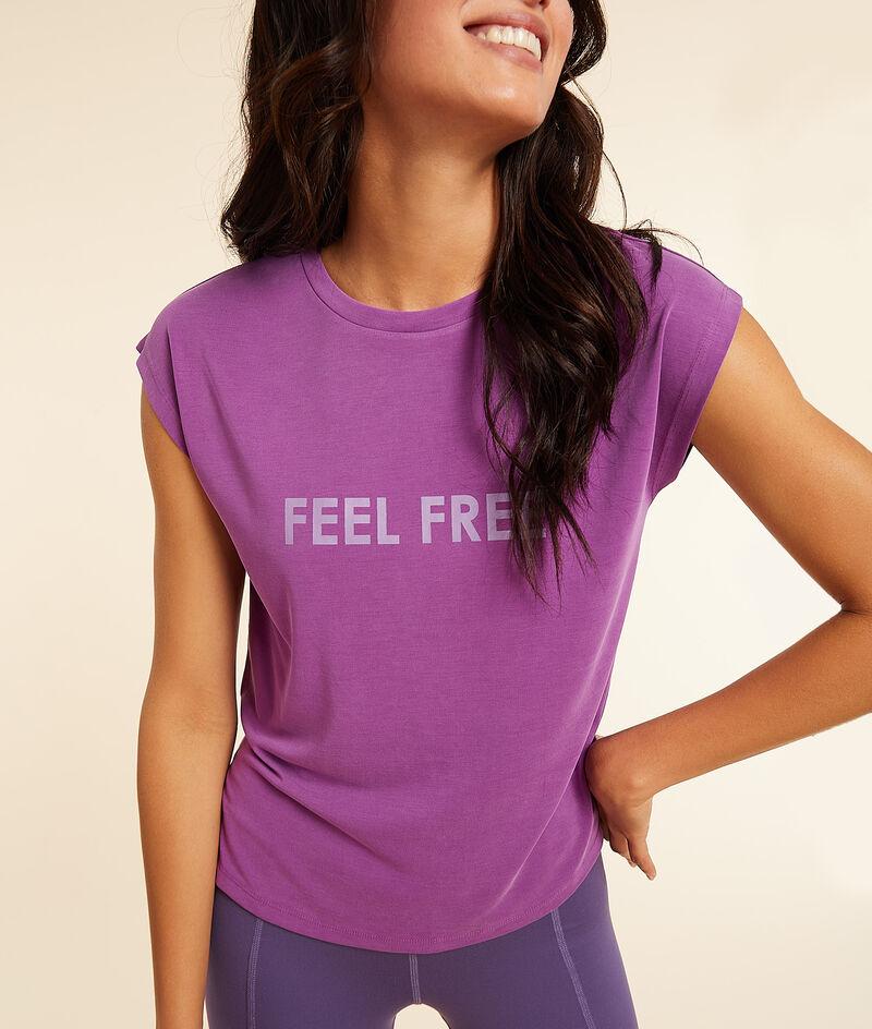 Спортивная футболка с принтом Feel Free;${refinementColor}