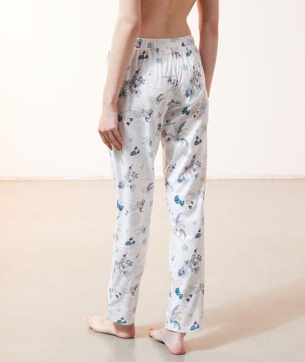 Пижамные брюки с принтом птиц;${refinementColor}