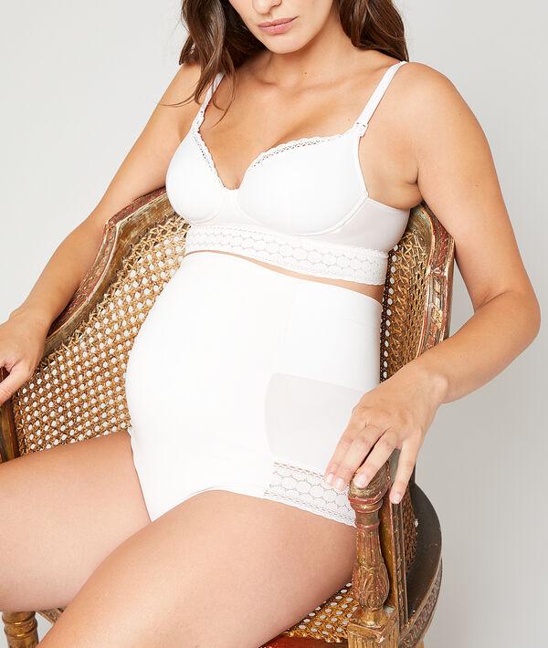 Высокие трусики для беременных с поясом - ENVIE - Пудровый - XL фото