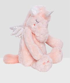 Сумочка для пижамы в виде единорога розовый.