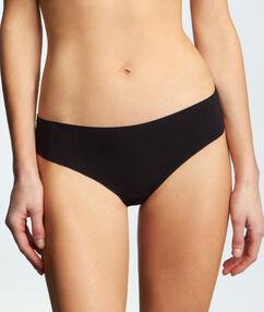 Невидимые под одеждой стринги микроволокно черный.