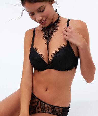 Soutien-gorge n°5 - ampliforme avec choker amovible noir.