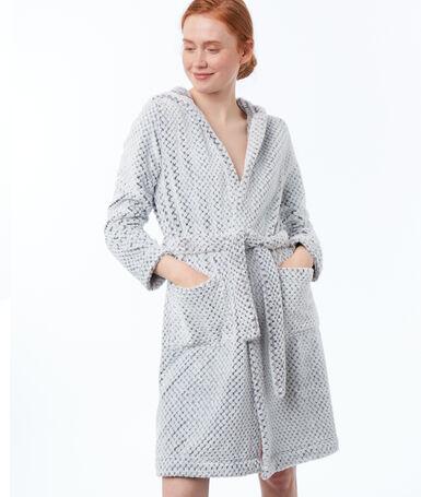 Ультра мягкий халат из трикотажа серый.