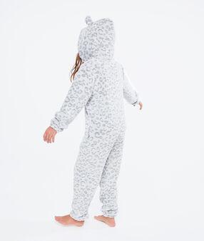 Пижама-комбинезон «детеныш пантеры» серый.