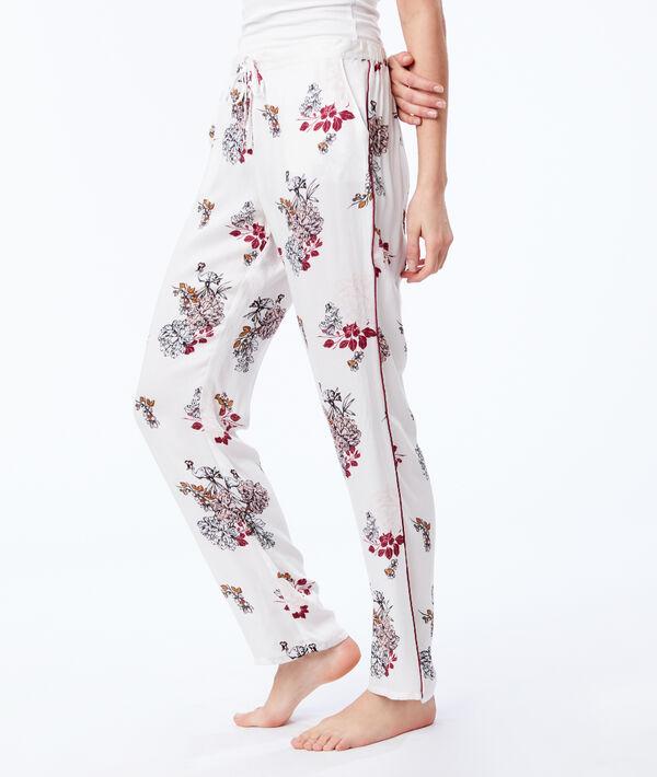 Штаны на завязках с цветочным принтом